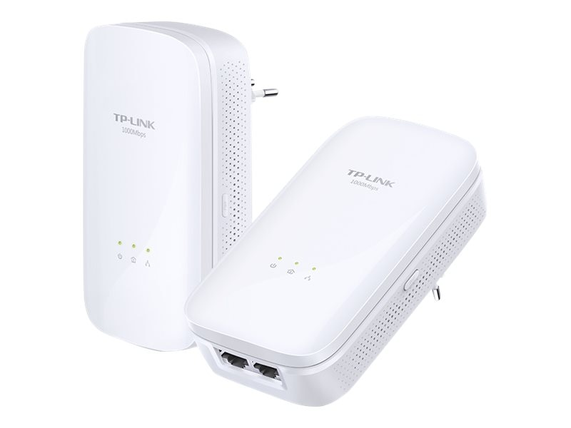 TP-LINK 2-port GE 1000Mbps Powerline Data RA Starter Kit, TL-PA7020 KIT