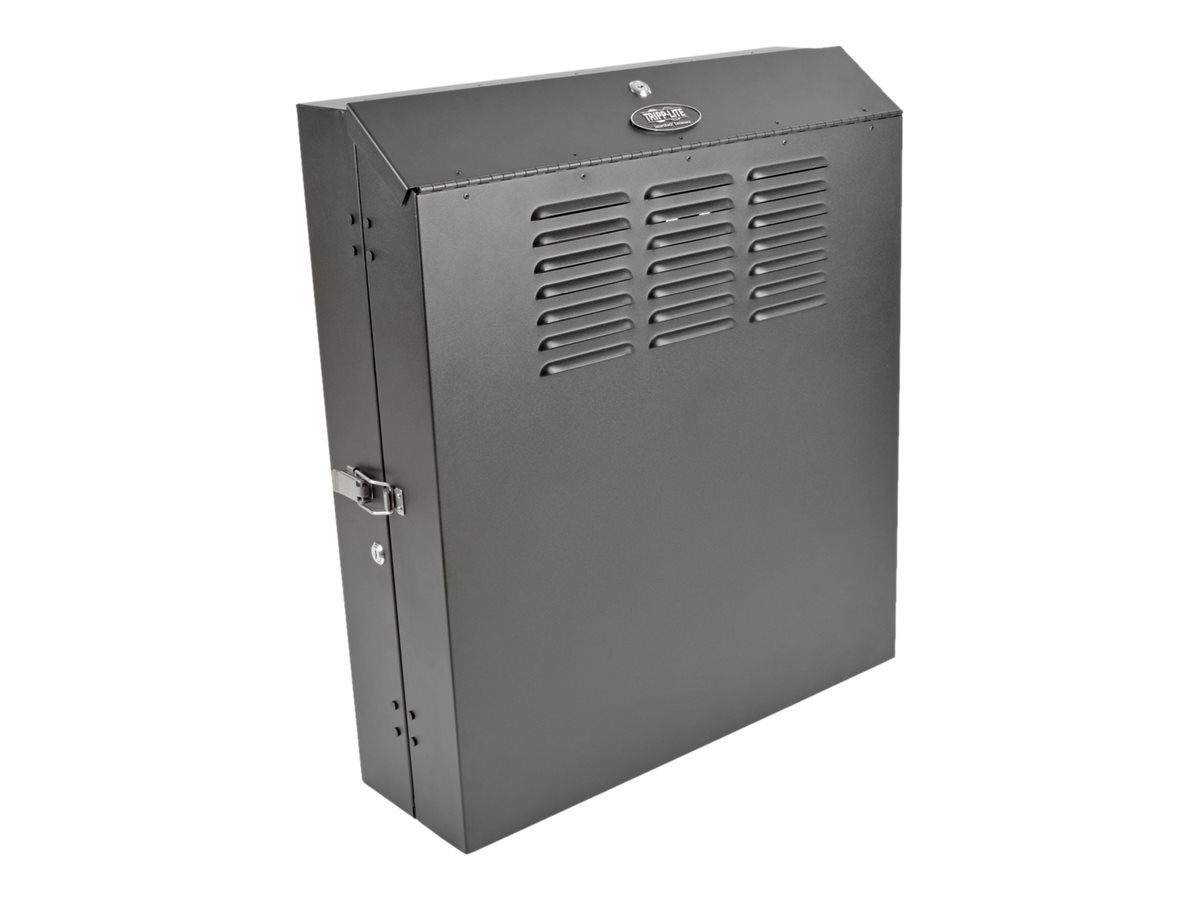Tripp Lite SmartRack 4U Low-Profile Vertical-Mount Switch-Depth Wall-Mount Rack Enclosure Cabinet