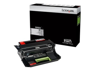 Lexmark 520ZA Black Imaging Unit, 52D0ZA0, 14909231, Toner and Imaging Components