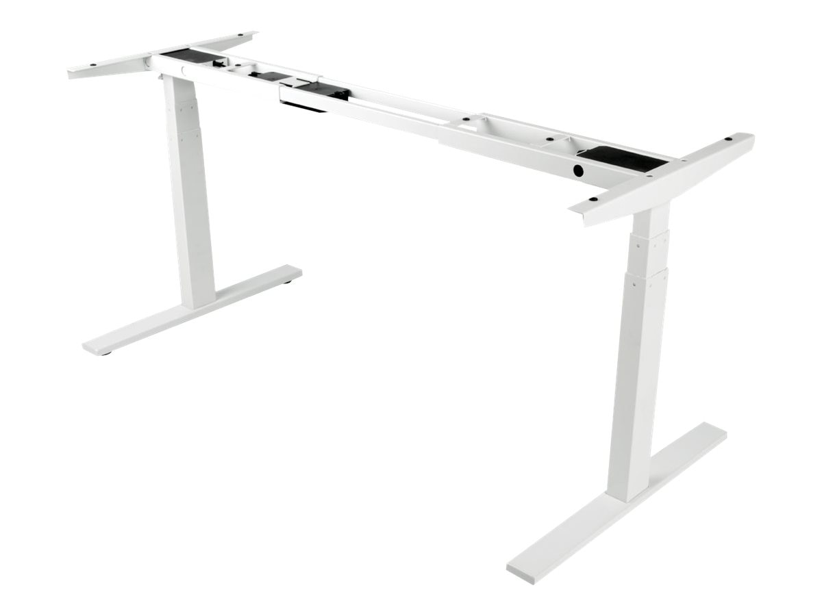 Tripp Lite Sit Stand Adjustable Electric Desk Base for WorkWise Standing Desk, White