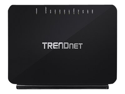 TRENDnet AC750 WL VDSL2 ADSL2+ Modem Router Wireless
