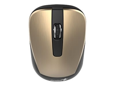 Kye NX-7015 Wireless 2.4GHz Optical Mouse 1600dpi, Gold, 31030119103