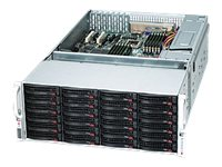 Supermicro 4U Storage Chassis, 7xSlots, 36xHS HDD Bays, 1400W RPSU, Black, CSE-847E1-R1400LPB, 10902577, Cases - Systems/Servers