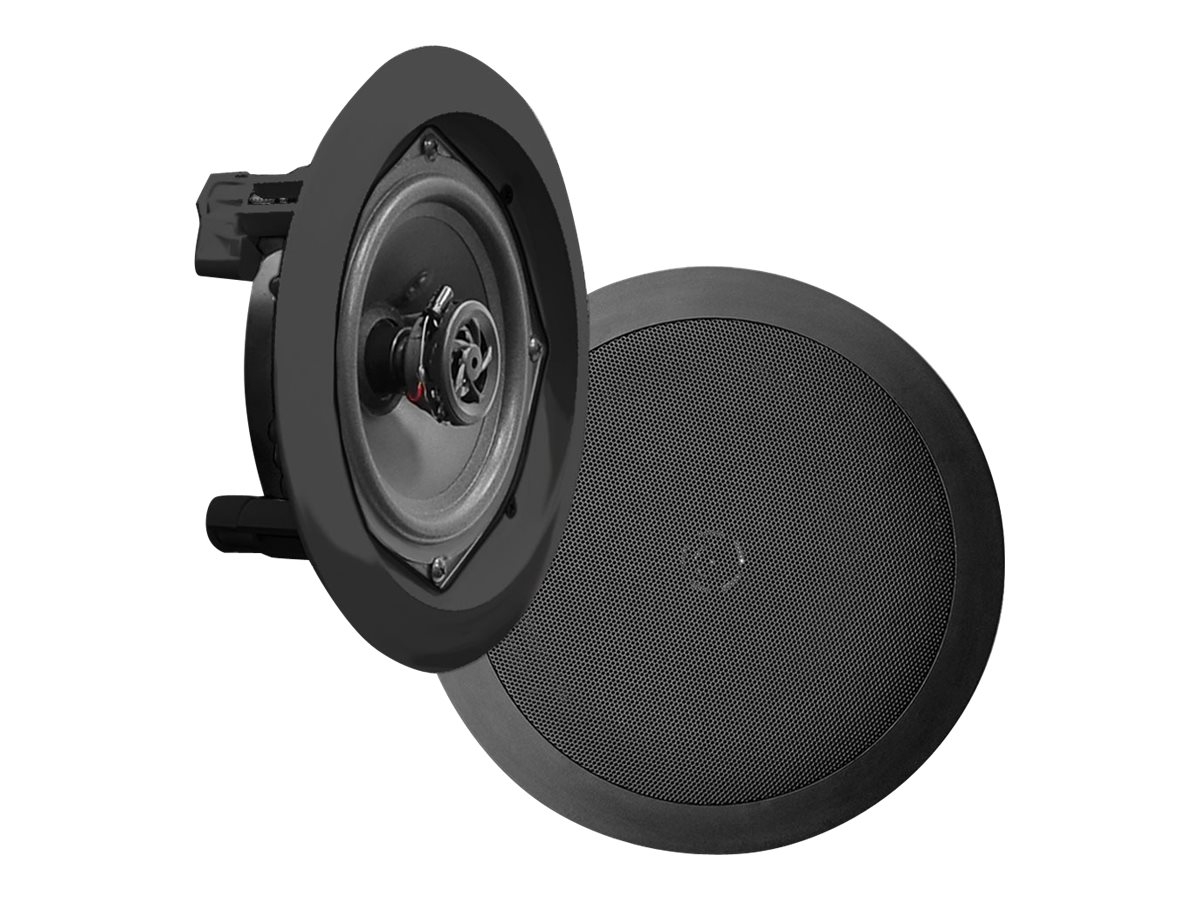 Pyle 8 Two-Way In-Cieling Speaker System - Black, PDIC81RDBK