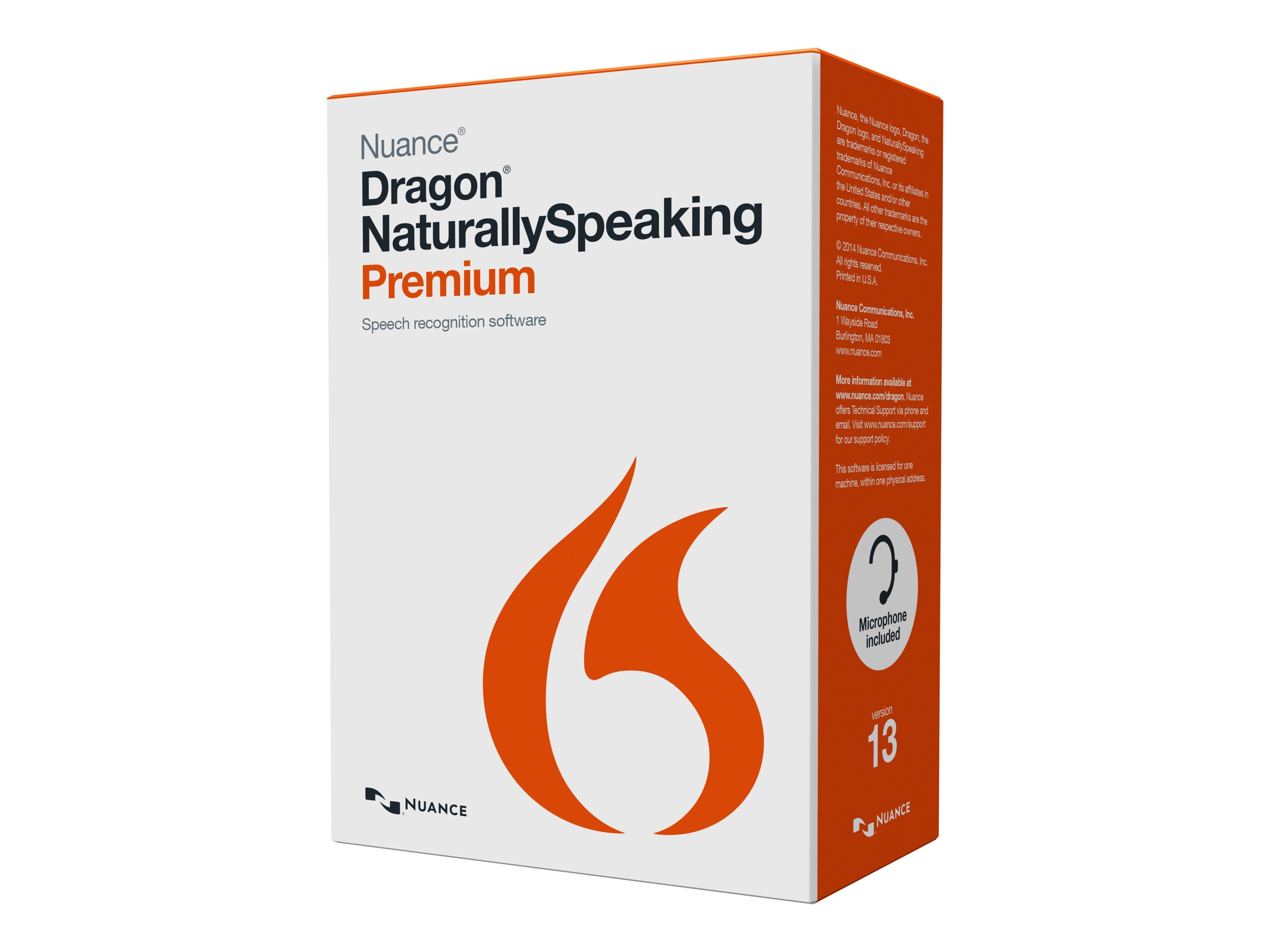 Nuance Dragon NaturallySpeaking 13.0 Premium Upgrade from v11 and Up - No Headset, K689A-K00-13.0, 17684349, Software - Voice Recognition
