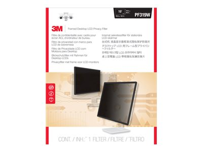 3M 19 Widescreen LCD Privacy Filter, Black