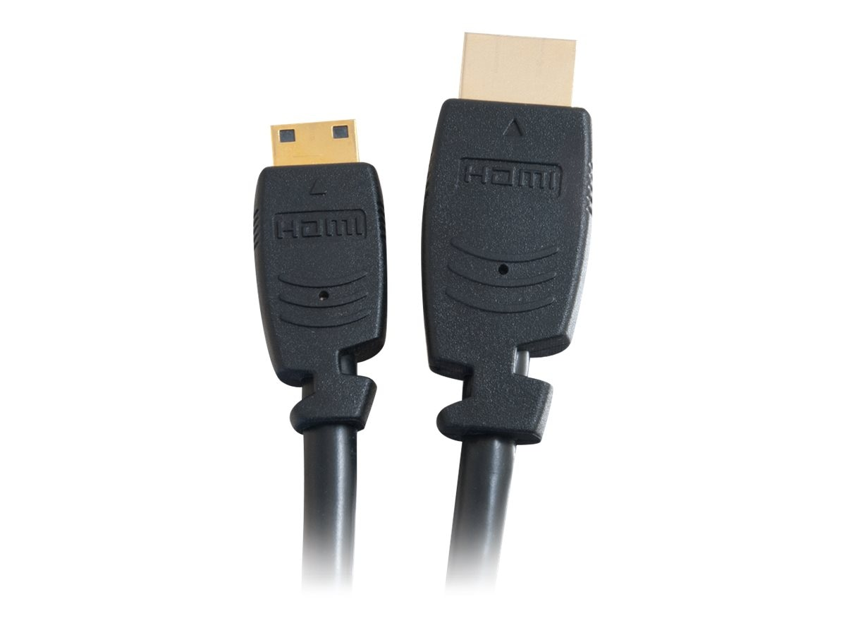 C2G Velocity HDMI Cable, Mini HDMI to HDMI, 2m