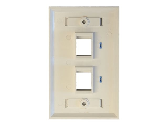Tripp Lite 2-Port Dual Outlet RJ45 Universal Keystone Jack Face Plate, TAA, N042-001-WH