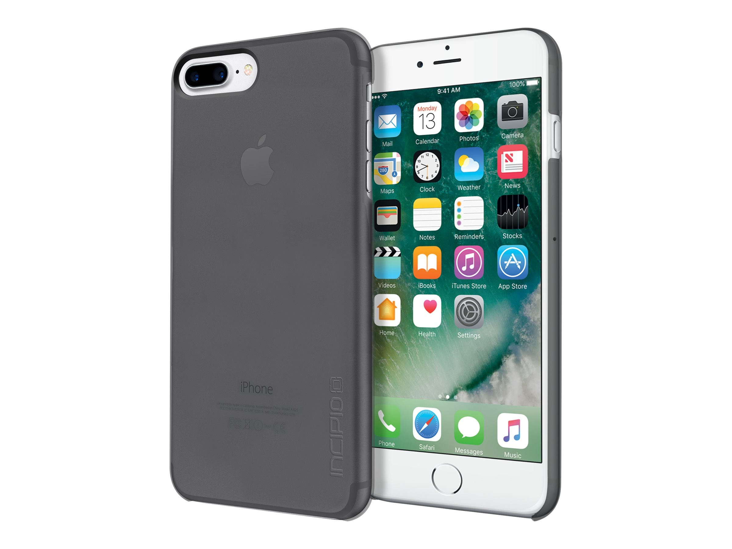 Incipio Feather Pure Ultra Light Snap-On Case for iPhone 7 Plus, Smoke, IPH-1494-SMK
