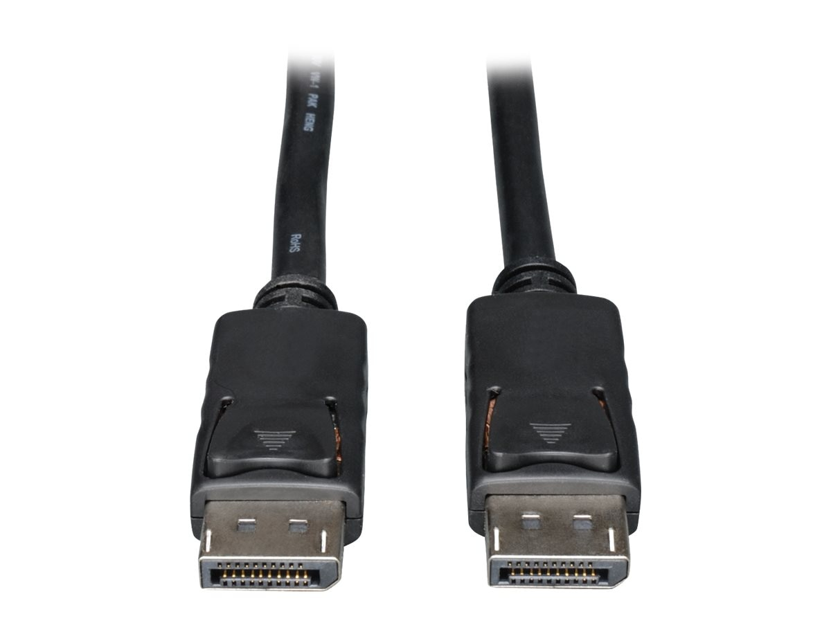 Tripp Lite DisplayPort M M Digital Audio Video Monitor Cable with Latches, Black, 6ft, P580-006