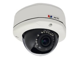 Acti 2MP Outdoor Dome with D N, Adaptive IR, Basic WDR, SLLS, Vari-focal lens, E84A, 19911015, Cameras - Security