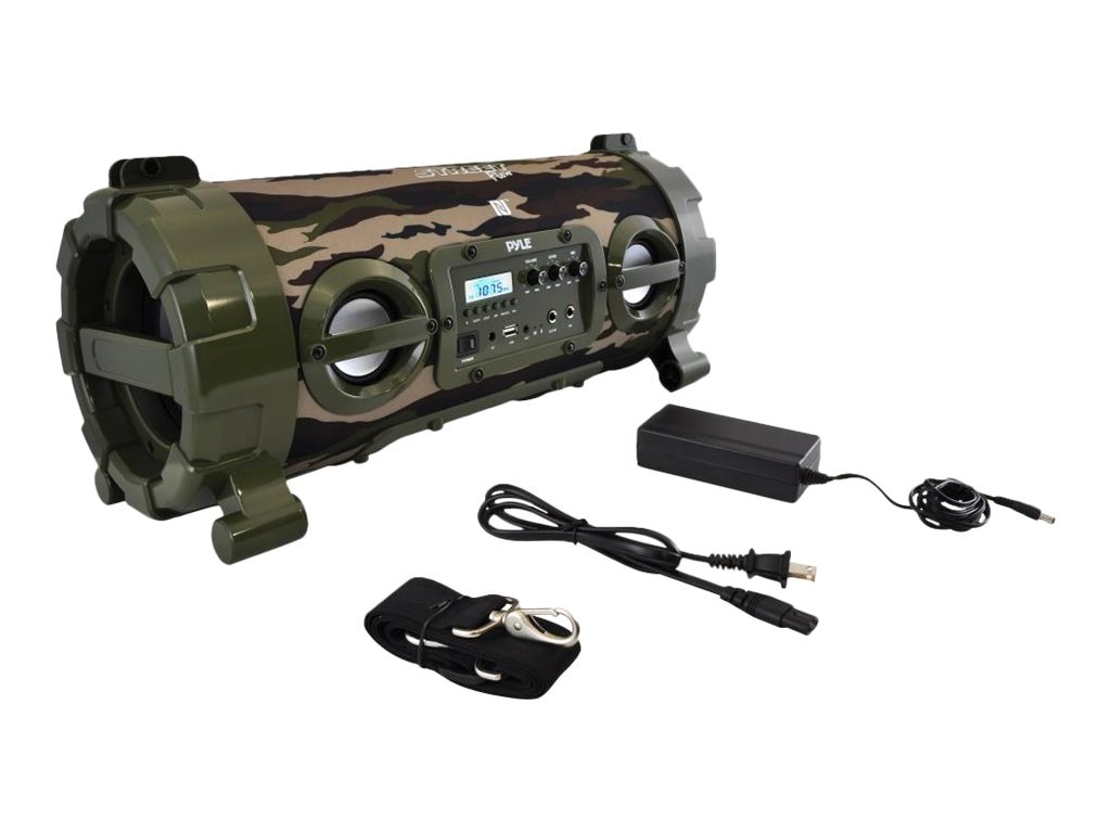Pyle Wireless Portable BT Boombox Speaker & High Powered Rugged & Durable Stereo System