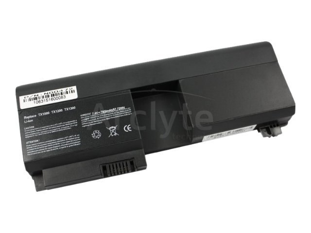 Arclyte Battery Performance-Lithium Li-Ion 7.4V 7800mAh 6-cell for HP Pavilion tx1000 Series, N00472
