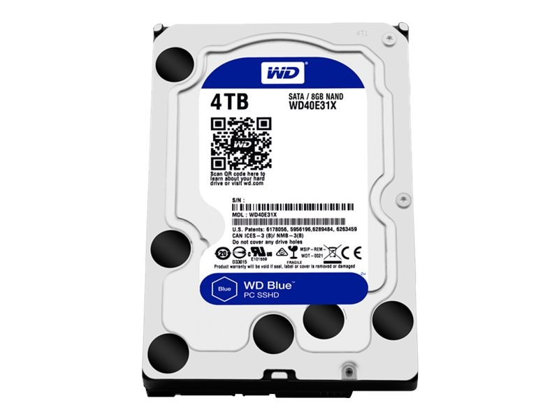 WD 4TB WD Blue SATA 6Gb s Solid State Hybrid 3.5 Internal Hard Drive
