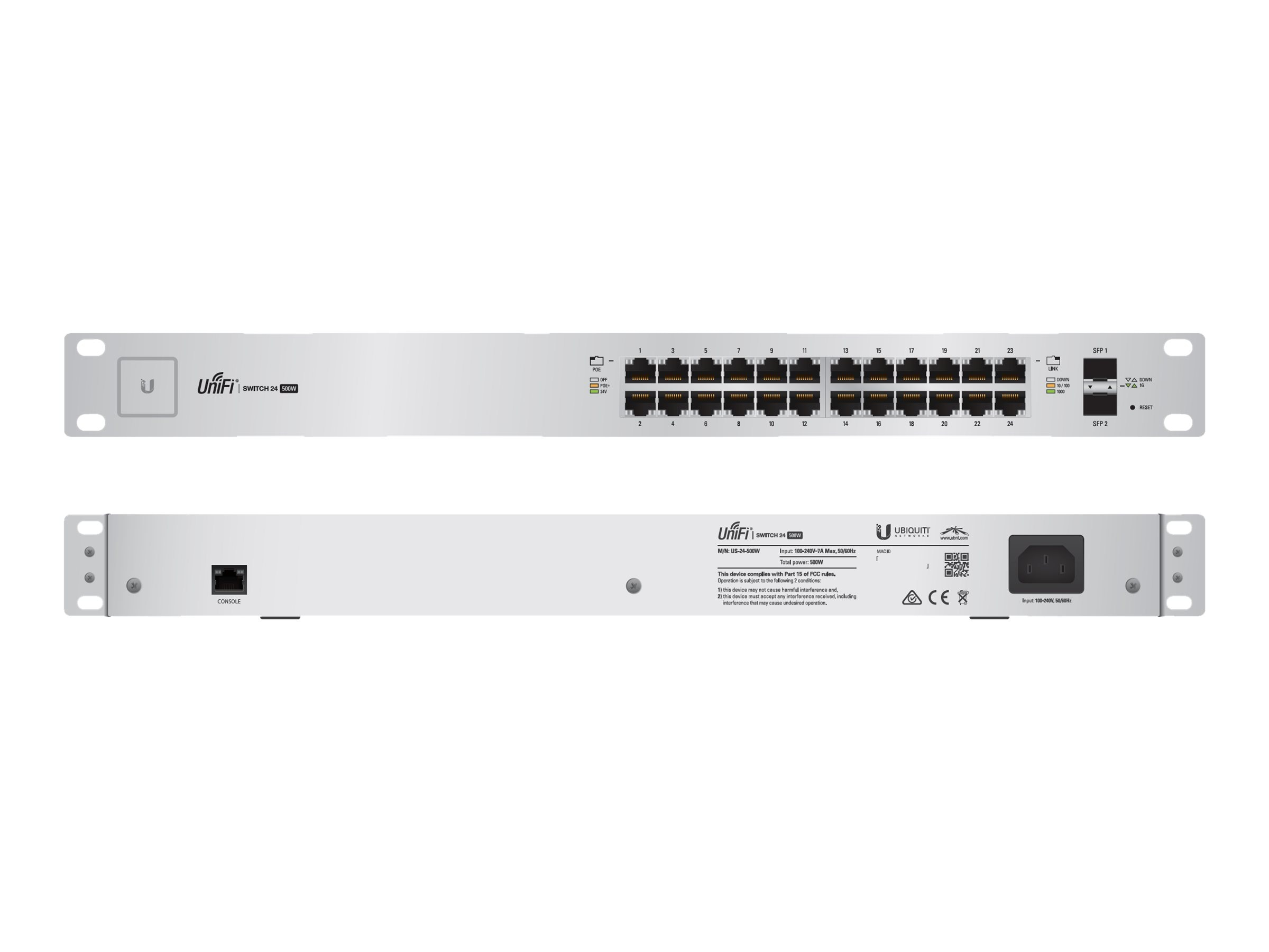 Ubiquiti UnifiSwitch 24-Port 500W, US-24-500W