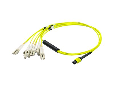 ACP-EP MPO to 6xLC Duplex Fanout SMF Patch Cable, Yellow, 15m, ADD-MPO-6LC15M9SMF, 17950811, Cables