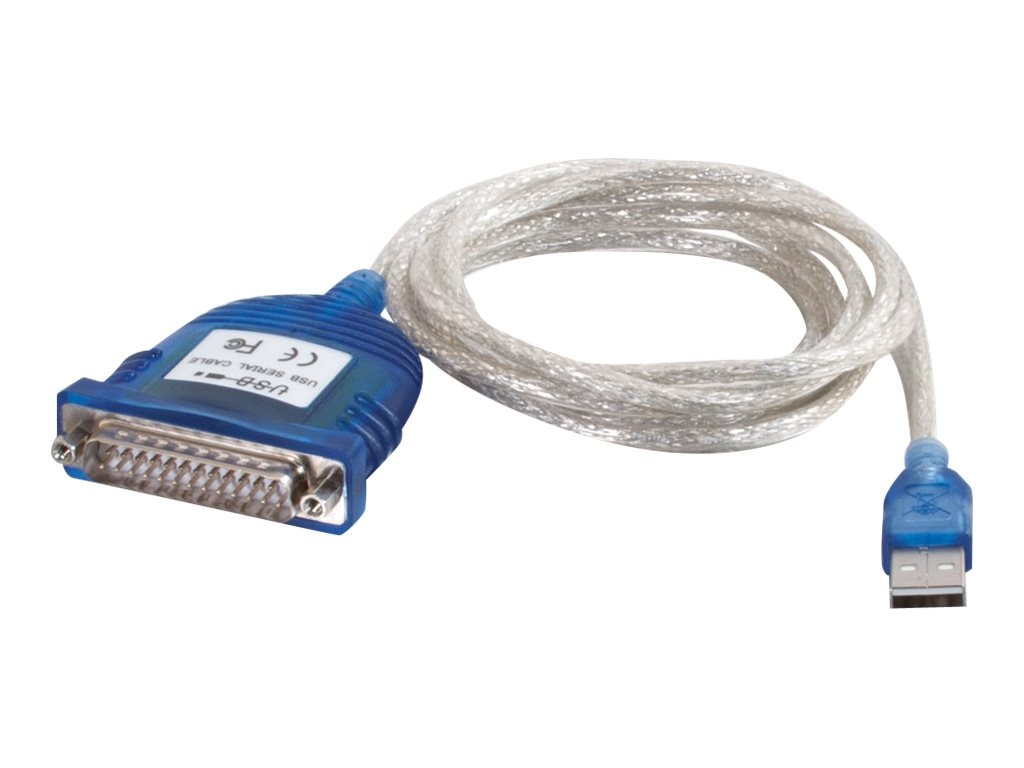 C2G Port Authority USB to Serial DB25 Adapter, 6ft