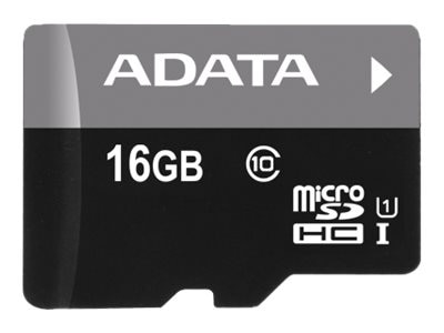 A-Data 16GB MicroSDHC UHS-I Flash Memory Card, Class 10