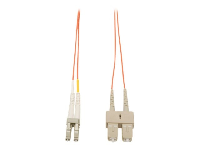 Tripp Lite Fiber Patch Cable, LC-SC, 62.5 125, Duplex, Multimode, 7m, N316-07M, 9161302, Cables