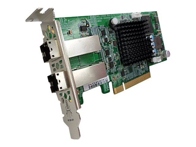Qnap Dual Wide Port 12Gbps SAS Storage Expansion Card for AO1 Series, SAS-12G2E