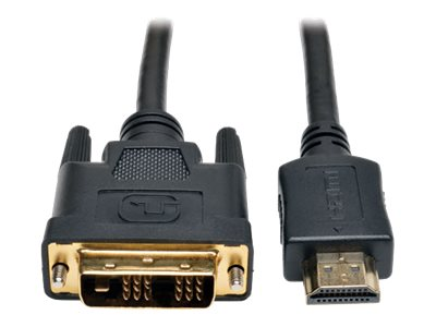 Tripp Lite HDMI to DVI M M Gold Digital Video Cable, Black, 6ft, P566-006, 5682240, Cables