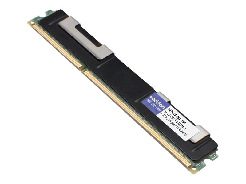 ACP-EP 16GB PC3-10600 240-pin DDR3 SDRAM RDIMM, 647653-081-AM