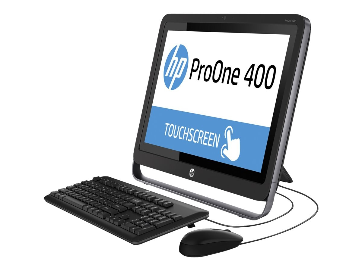 HP Smart Buy ProOne 400 G1 AIO Core i3-4360T 3.2GHz 4GB 500GB DVD+RW abgn BT 21.5 HD Touch W7P64-W10P, P0D20UT#ABA, 28184876, Desktops - All-in-One