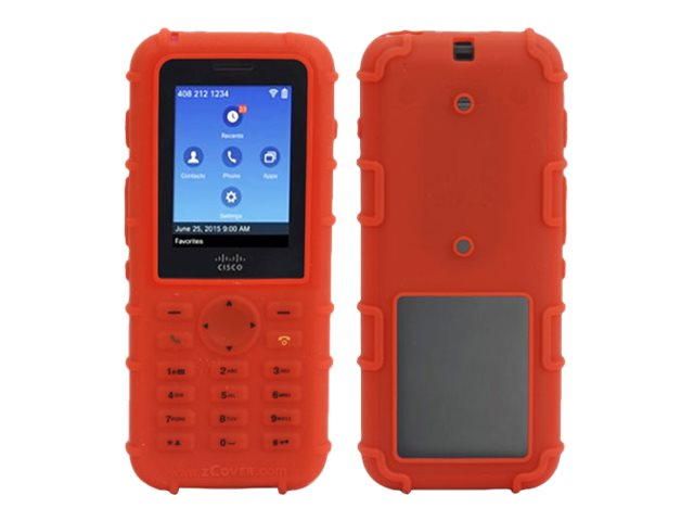 Zcover Printed Silicone Case, Red Dock-in-case for Cisco 8821 8821-EX, CI821PHD