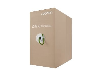 Add On Cat6 UTP Non-Terminated PVC Copper Patch Cable, Green, 1000ft