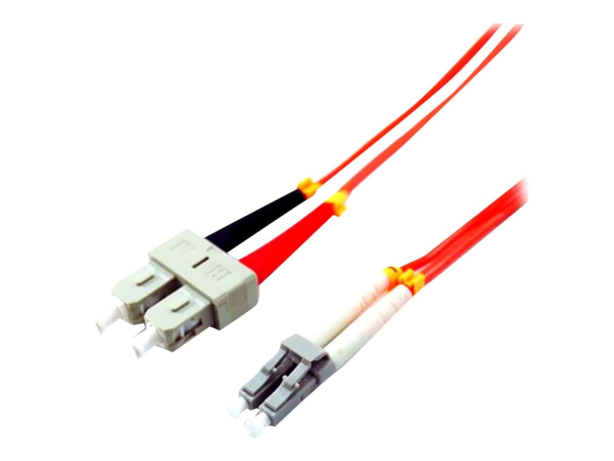 Comprehensive LC to SC 62.5 125 Multimode Duplex Cable, Orange, 3m