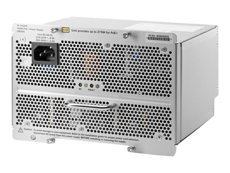 HPE 5400R 700W PoE+ ZL2 Power Supply, J9828A#ABA, 17469462, Power Supply Units (internal)
