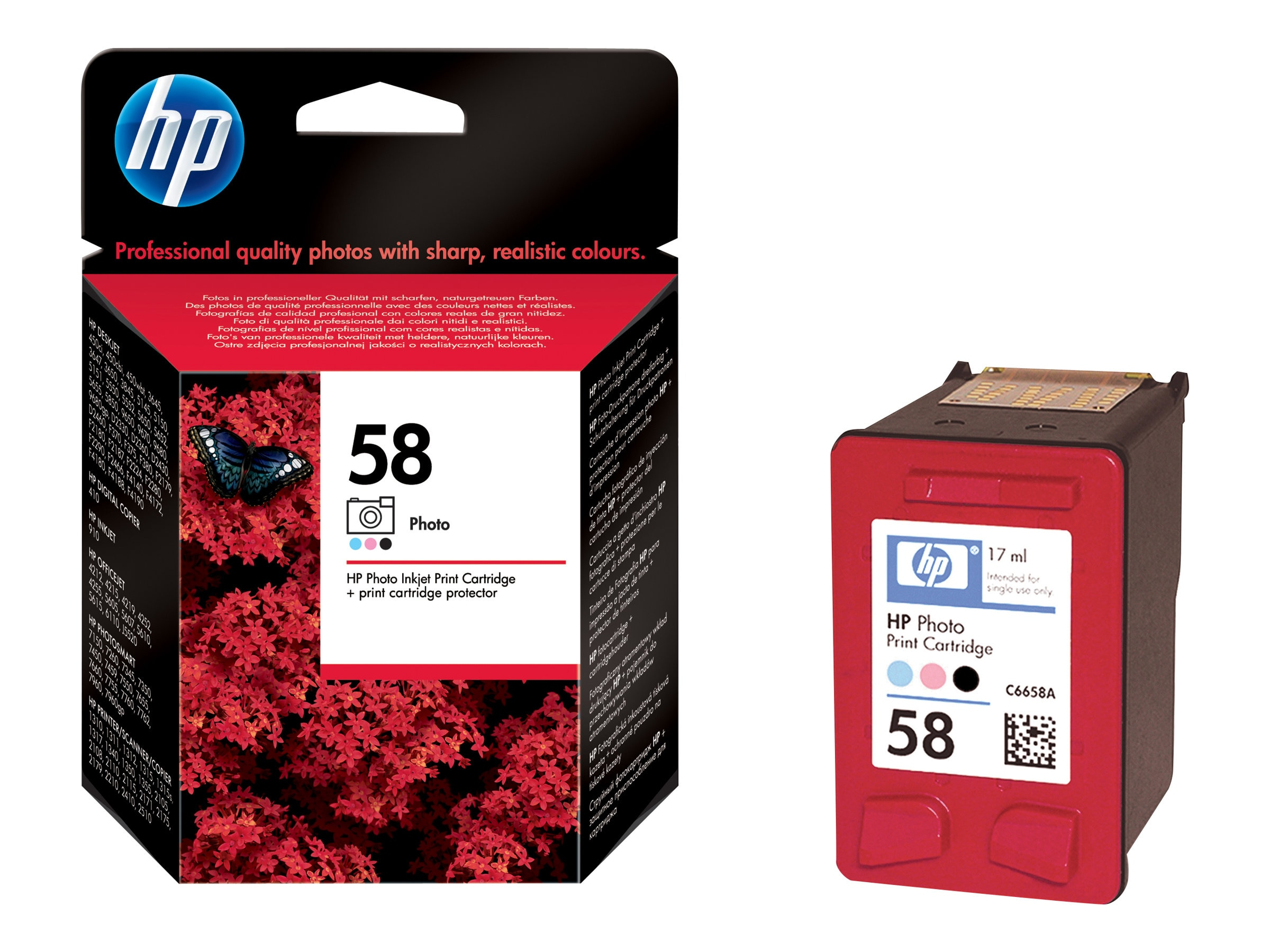 HP 58 (C6658AN) Photo Original Ink Cartridge, C6658AN#140, 9801074, Ink Cartridges & Ink Refill Kits
