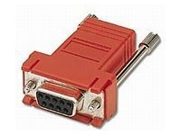 C2G RJ45-DB9 Modular Adapter, Red, 02944, 8399482, Adapters & Port Converters