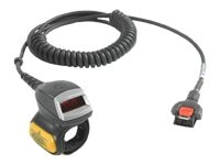 Zebra Symbol Ring Scanner, 1D Laser, Cable to Hip-mounted WT41N0, RS419-HP2000FLR, 15546920, Bar Code Scanners