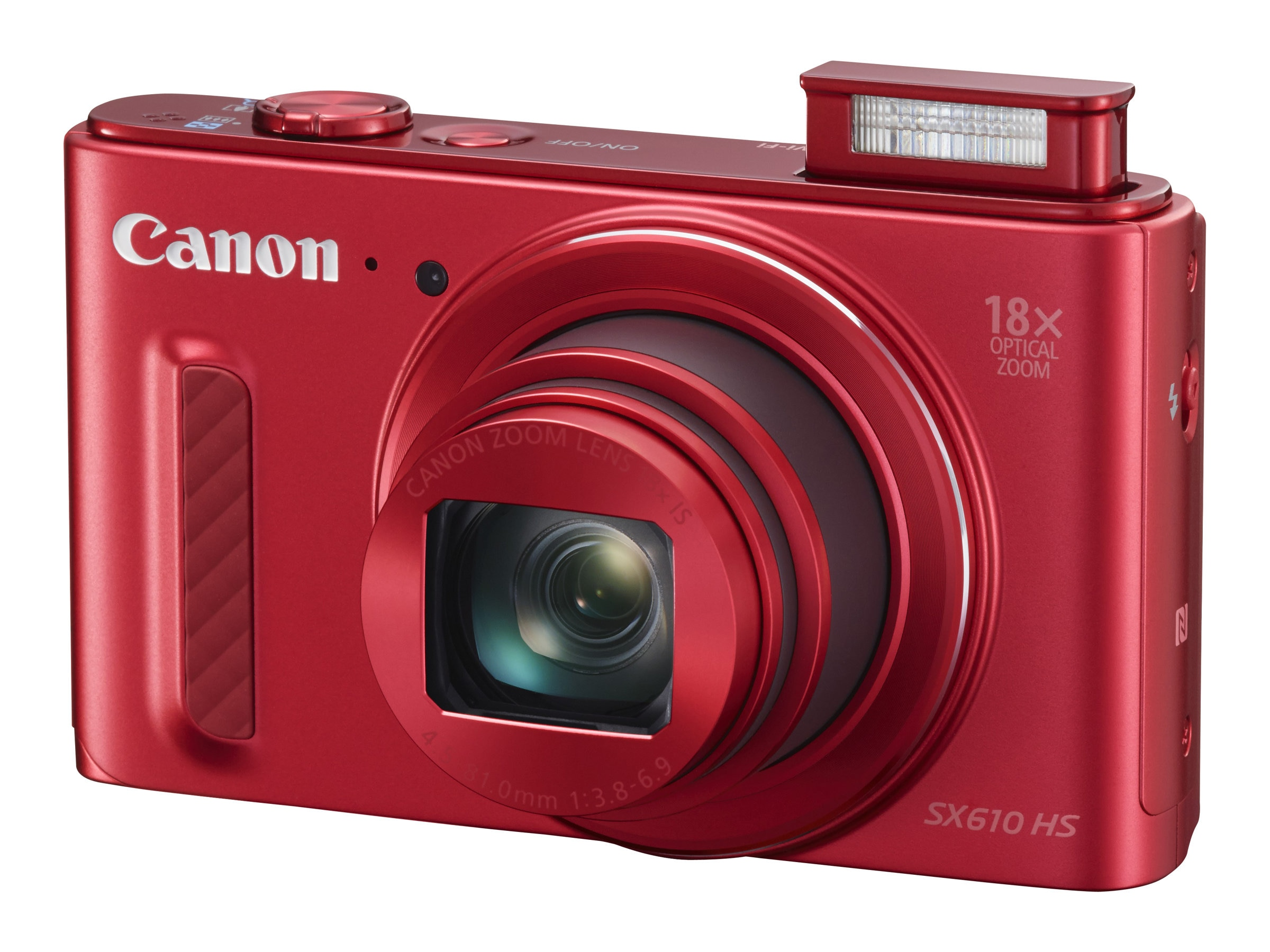 Canon Powershot SX610 HS Camera, 20.2MP, 18x Zoom, Red, 0113C001