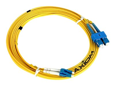 Axiom Fiber Patch Cable, SC-ST, 9 125, Singlemode, Duplex, 3m