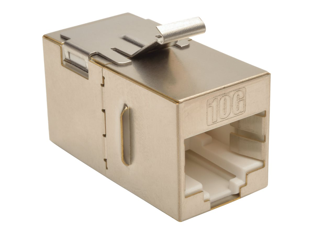 Tripp Lite Cat6a Straight-Through Modular Shielded In-Line Snap-In Coupler, N235-001-SH-6A