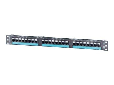 Ortronics 24-Port Patch Panel, Black, 1U, PHD68U24, 12830167, Patch Panels