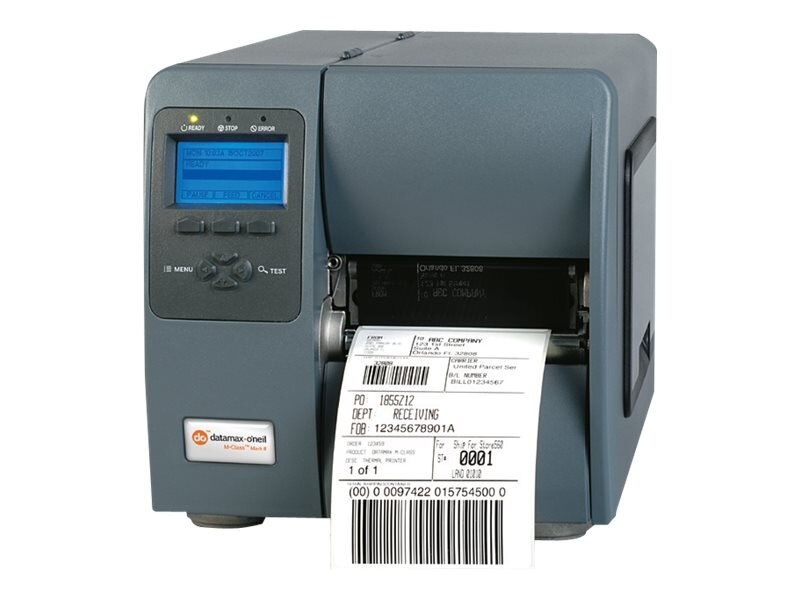 Datamax-O'Neil M4206 TT 4 203dpi 6ips 8MB USB Serial Parallel Printer w  Present Sensor & Rewind, KD2-00-48400000