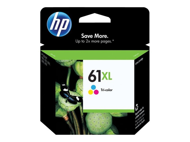 HP 61XL (CH564WN) High Yield Tri-color Original Ink Cartridge, CH564WN#140, 11773893, Ink Cartridges & Ink Refill Kits