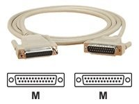 Black Box DB25 Extension Cable (M-M), Beige, 20ft