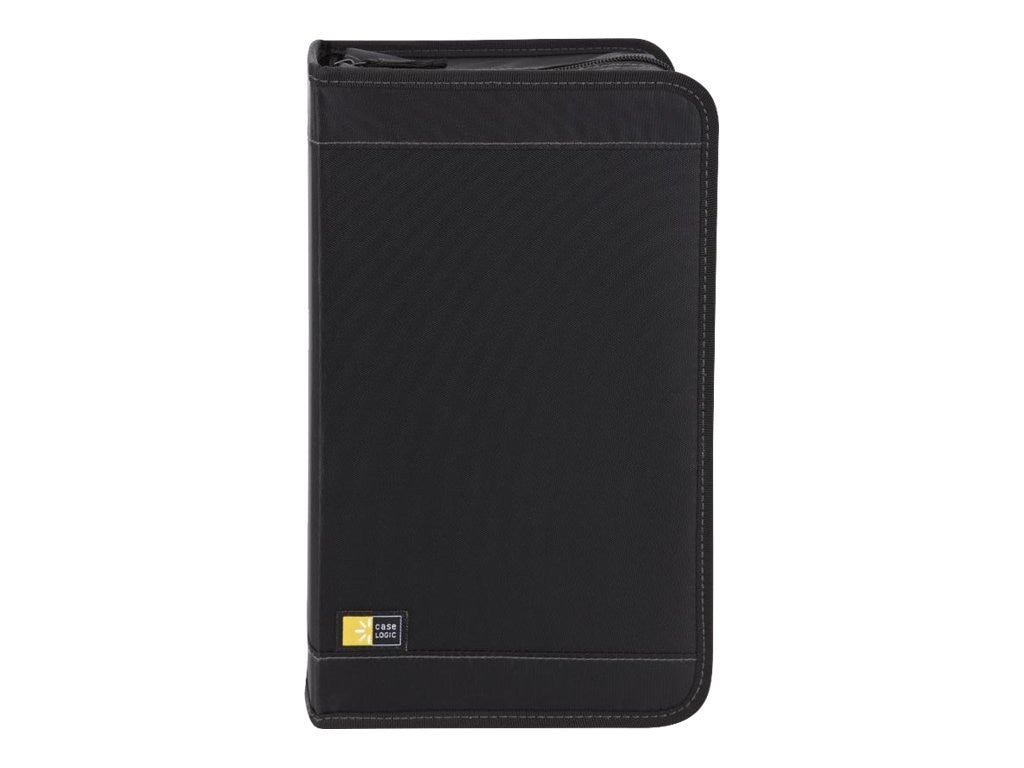 Case Logic 136 Capacity CD Wallet - Black, CDW-128TBlack, 14005460, Media Storage Cases