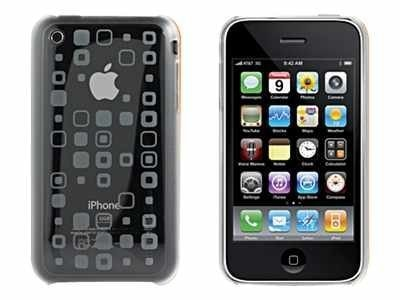 Imation XtremeMac Microshield for iPhone 3GS, Tatu Squares, 01981, 12162411, Protective & Dust Covers