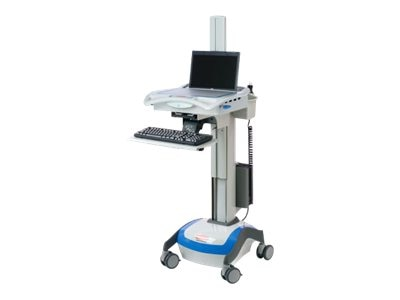 Open Box Rubbermaid LCD Cart with CPU Holder, 9M38-00-C00, 30803891, Computer Carts - Medical
