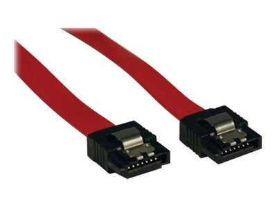 Tripp Lite Serial ATA Signal Cable, 7-pin (F-F), Red, 8in