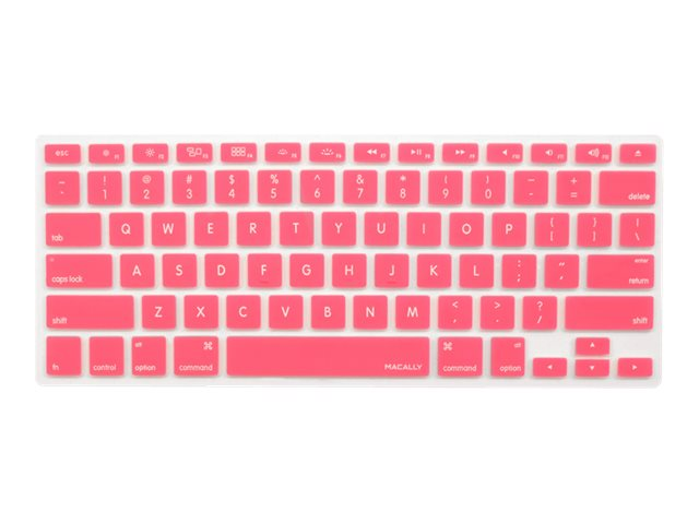 Macally Protective Cover for Macbook Keyboard, Pink
