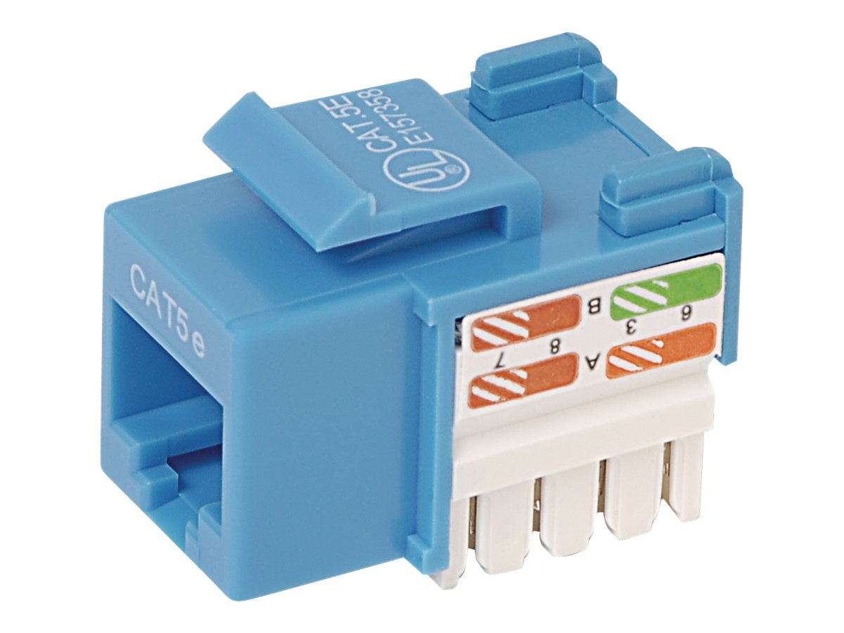 Belkin Cat5e Keystone Jack, 568A 568B, Blue, 10-Pack, R6D024-AB5EBL10, 7630161, Premise Wiring Equipment
