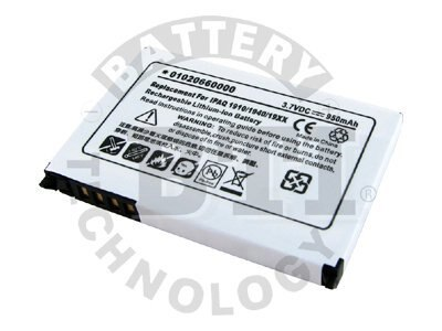 BTI Battery, Lithium-Ion, 3.7 Volts, 950mAh, for iPAQ, Pocket PC, PDA-HP-1900, 8443050, Batteries - Other