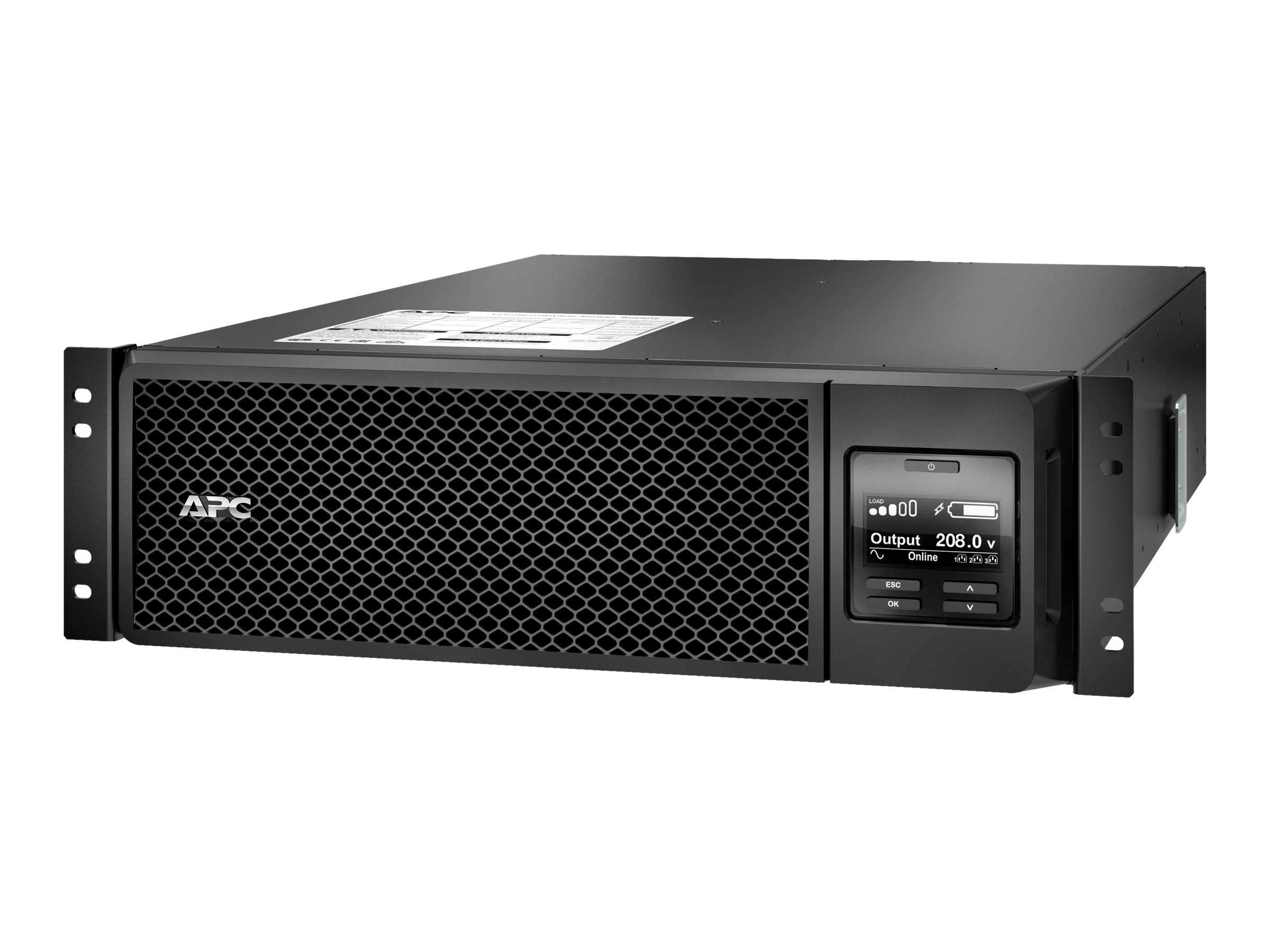 APC Smart-UPS SRT 5000VA 4500W 230V Int'l 3U RM HW Input (10) Outlets Extended Runtime, SRT5KRMXLI, 18399398, Battery Backup/UPS