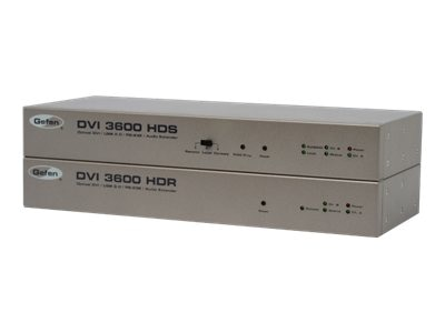 Gefen DVI 3600HD Optical DVI USB 2.0 RS232 Audio Extender, EXT-DVI-3600HD